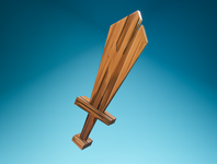 Day 46 - Wooden Sword playtime wood woodensword sword fun concept art cartoon different concept design clean render blender 3d art 3d