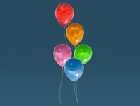 Day 47 - Balloons balloons cartoon different product design concept design clean render blender 3d art 3d