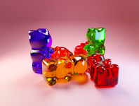 Day 48 - Gummy Bears gummy bear gummy different concept design clean render blender 3d art 3d