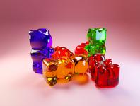 Day 48 - Gummy Bears gummy bear gummy different concept design clean render blender 3d art 3d