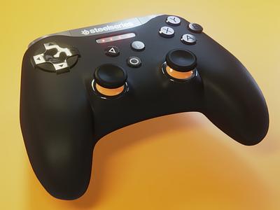 SteelSeries Stratus XL design product design branding render blender 3d art 3d steelseries gaming game controller