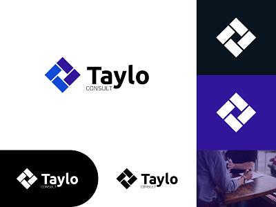 Taylo Consult - Logo Design flat minimal vector icon app logo branding design