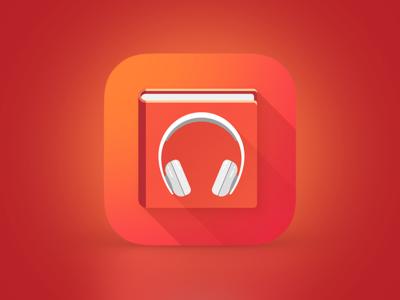 audiobook flat app book icon ios icon