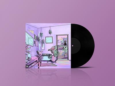 WuChang Album vaporwave lofi digital art digital illustration illustraion spotify cover music art dj record label record album cover album art