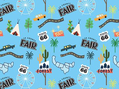 LA County Fair Print socks route66 california losangeles pattern design all over print surface pattern print design illustrator surface pattern design vector pattern illustration