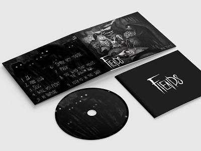 Fiends Album - Me Time metal band metal monsters creepy charcoal procreate packaging cd packaging cd artwork cd cover album artwork album cover album art album logo illustrator illustration