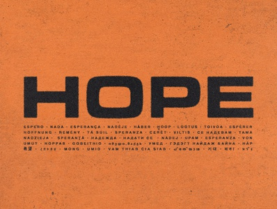 Hope print design typetreatment typography graphic design design