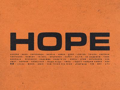 Hope print design typetreatment typography graphic design design
