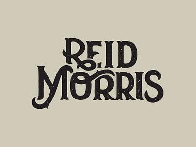 Reid Morris typetreatment logo typography design