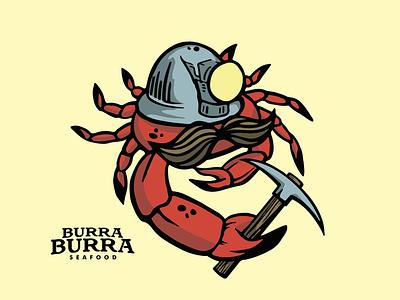 Burra Burra Seafood branding vector design illustration