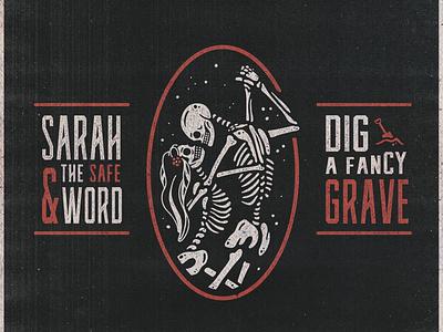 Dig A Fancy Grave branding typography album artwork album cover album art illustration design