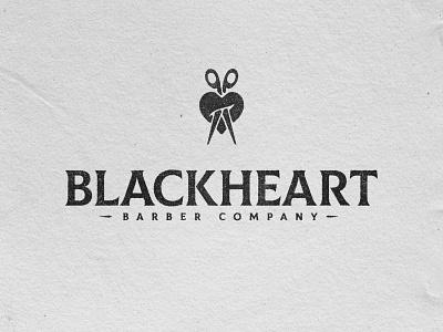 Blackheart Barber Co. illustration typography vector print design typetreatment design branding logo