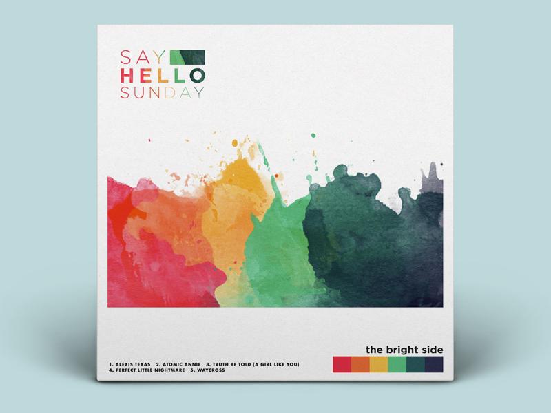 The Bright Side mock-up watercolor album artwork graphic design