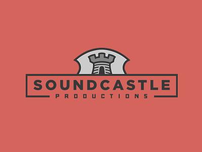 Soundcastle Productions recording studio castle logo designer design graphic design studio icon branding logo design