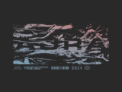 Aura Fest print design illustration typetreatment graphic design design
