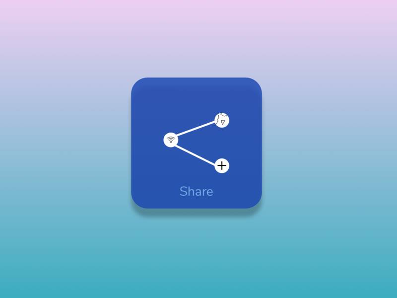 Daily UI Challenge_Social Share_ Icon/Button by Peter Kim on Dribbble