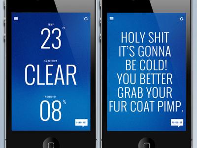 Funny Weather  weather app ui design minimal clean