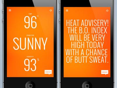 Funny Weather 02 weather app ui design minimal