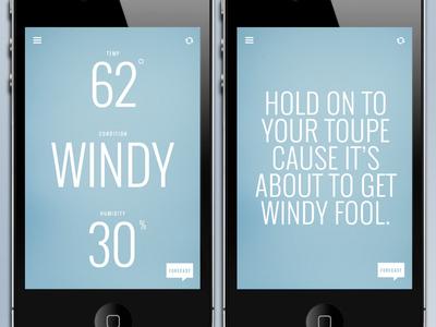 Funny Weather 03 weather app design minimal
