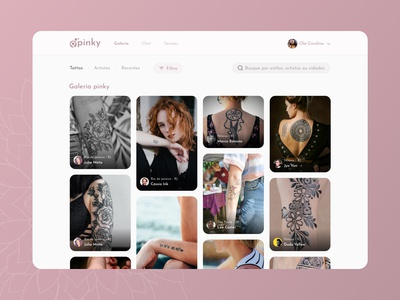 Tattoo web app concept interface design user interface app design mobile design ux design ux tattoo app tattoo uidesign ui  ux user interface design uiux ui design ui mobile ui mobile app design mobile app mobile interface app