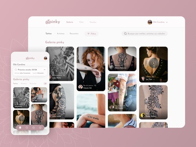 Tattoo app responsive design concept web design mobile app design mobile design mobile ui user interface design user interface tattoo design tattoo responsive web design responsive website responsive design app design app ui  ux ux design ux uiux uidesign ui design ui