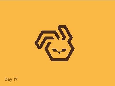Daily Logo 17/50 - Geometric Rabbit Logo hare animal rabbit geometric character illustration branding logo symbol mark dailylogo dailylogochallenge