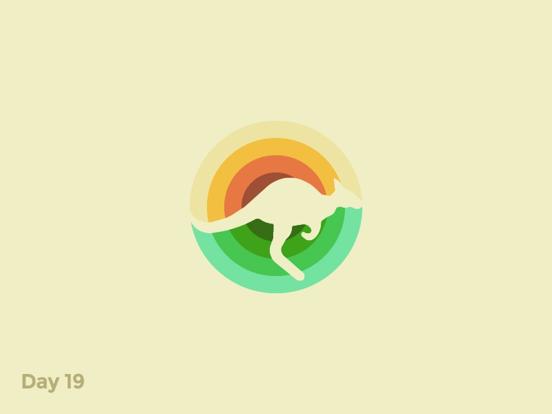 Daily Logo 19/50 - Kangaroo Logo sunnies kangaroo australia sun animal illustration branding logo symbol mark dailylogo dailylogochallenge