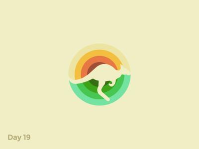 Daily Logo 19/50 - Kangaroo Logo