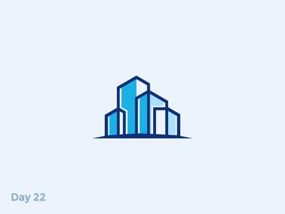 Daily Logo 22/50 - City Logo build building symbol property rent house industry industrial city mark logo illustration dailylogochallenge dailylogo branding