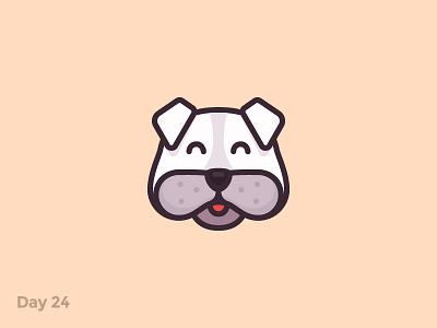 Daily Logo 24/50 - Dog Logo happy animal puppy dog pet flat mark logo illustration dailylogochallenge dailylogo branding