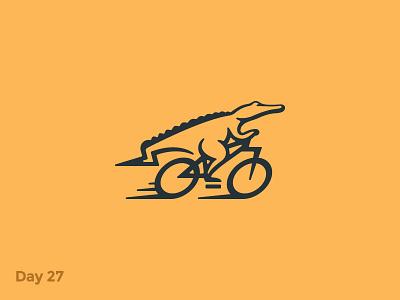 Daily Logo 27/50 - Bicycle Logo branding dailylogo dailylogochallenge illustration logo mark flat motion bike crocodile alligator bicycle