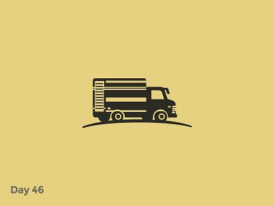 Daily Logo 46/50 - Truck Logo delivery truck car vehicle vintage lorry mark logo illustration dailylogochallenge dailylogo branding