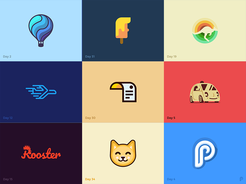 the best nine of daily logo challenge by pavlo plakhotia dribbble