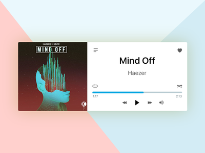 Daily UI 009/100 - Music Player material page clean music player layout design ux ui dailyui daily challenge 009