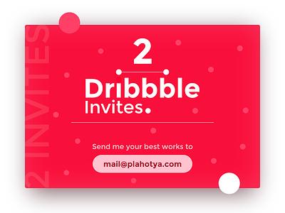 2 Dribbble Invites Giveaway ui design giveaway strawberry free dott red dribbble invitation invite
