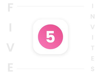 5 Dribbble Invites Giveaway invite invitation dribbble icon 5 free five giveaway design ui