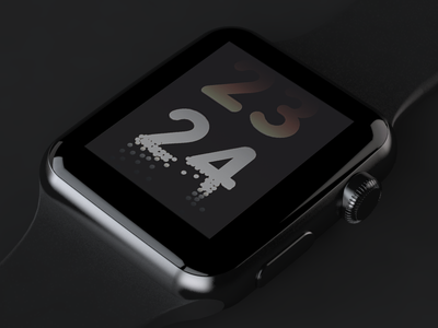 Daily UI 014/100 - Countdown 014 daily challenge dailyui ui ux design countdown timer watch time apple dot