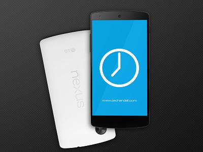 Nexus 5 Mock up Screen app illustration psd android free freebie mockup render showcase template google nexus