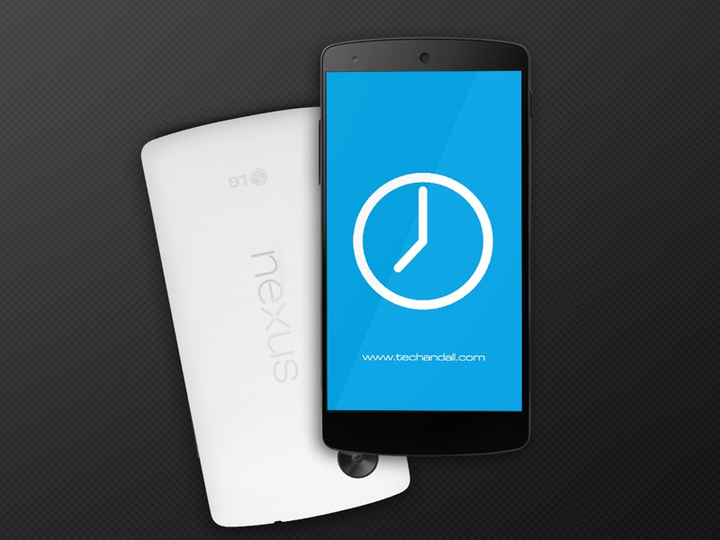 Nexus 5 Mock up Screen app illustration psd android free freebie mockup render showcase template google nexus