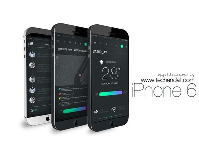 iPhone 6 App Concept .psd freebie mockup psd perspective mobile mock-up iphone photoshop iphone 5 iphone 6