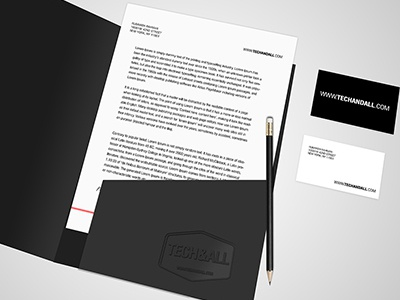 Open Folder Mock up mockup stationery branding psd freebie business card download psd branding identity mockup freebies