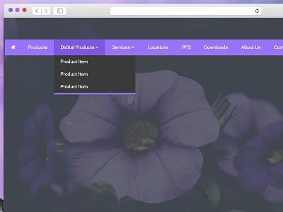 Horizontal Dropdown Navigation menu dropdown freebie navigation download website freebies css
