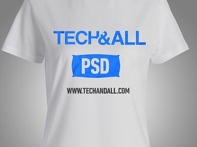 Female T Shirt Mockup PSD freebie female tshirt downloads mockup freebies psd
