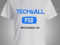 Female T Shirt Mockup PSD