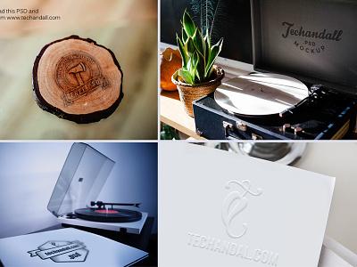 Logo Mockup  PSD designs showoff presentation showcase photo branding free logo freebie mockup psd