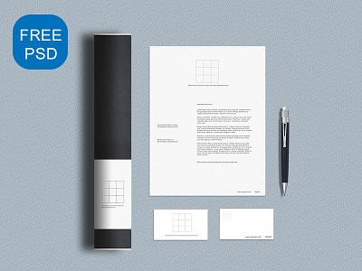 Simple Banding Mockup PSD business card letterhead iphone branding logo freebie mockup psd