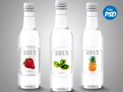 Label For Bottle Mock up fruits marketing branding bottle logo freebie mockup psd