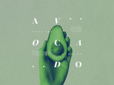 AVOCADO elegant green avocados potasio fruits avocado photography nature aesthetic composition graphic typography type graphicdesign design