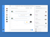 Productivity app design - direct messaging