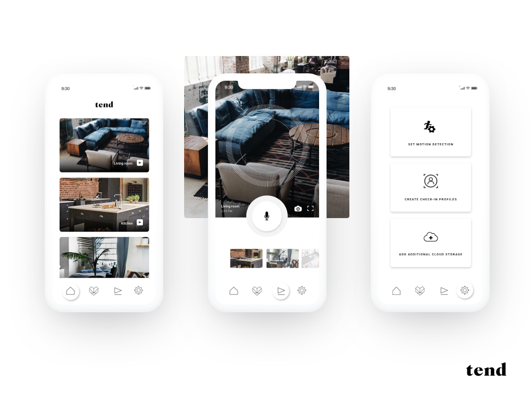 Security Camera Mobile App by Chris Partise on Dribbble
